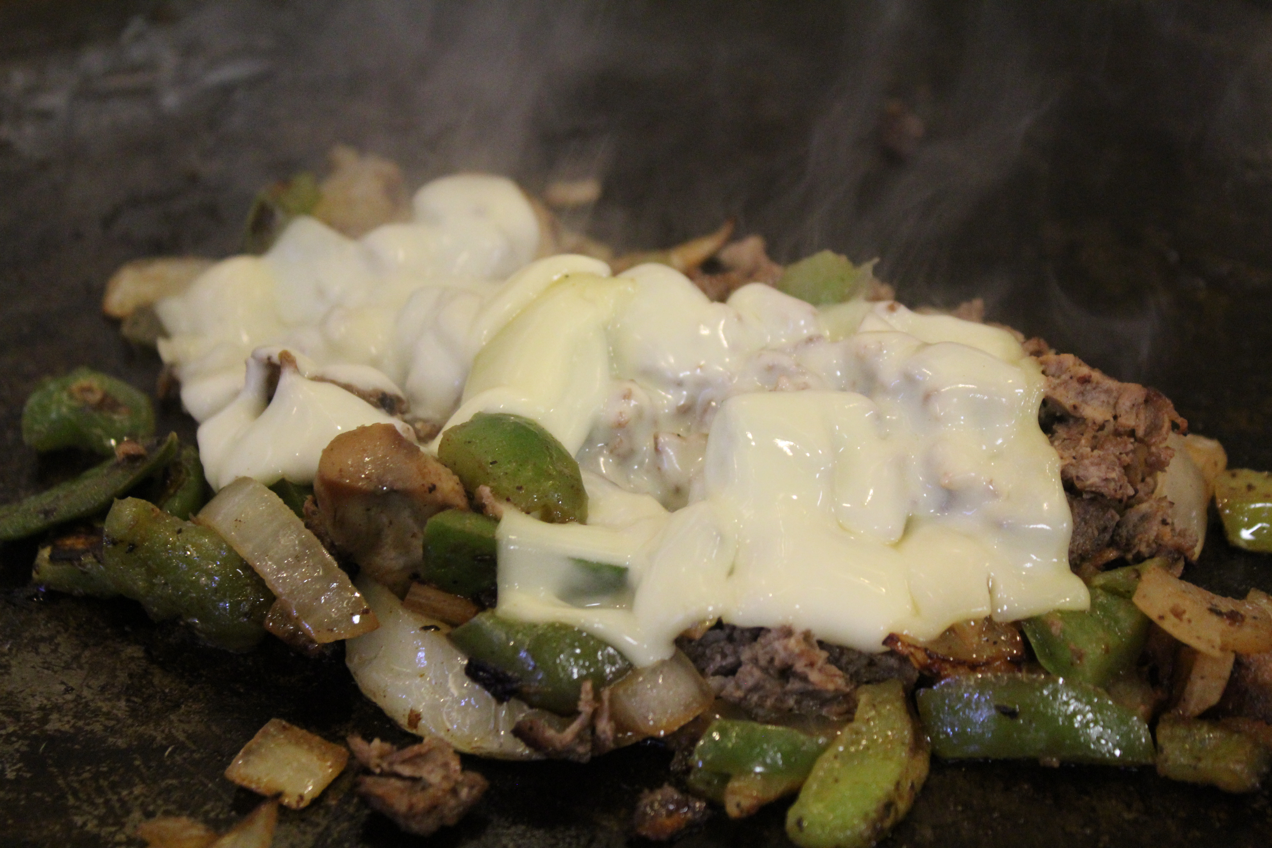 Philly Cheese Steak on grill